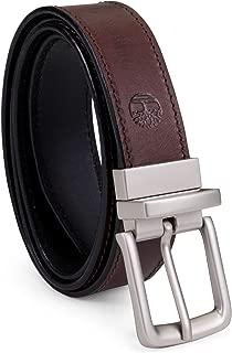 Timberland 添柏嵐 男士經典皮帶雙面布料 從棕色到黑色可選