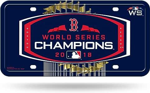 波士顿红袜队 2018 世界职业冠军金属牌照牌 - 标志 MLB