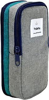 镍文具 笔盒 调色笔盒 ブルー×グレー