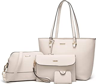 ELIMPAUL 女士时尚手提包单肩包手提包单肩包手提包钱包 4 件套