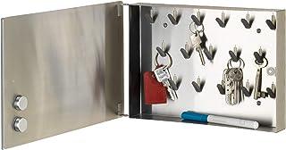Wenko 磁铁。 镜面钥匙盒,硬化玻璃,透明 透明 30 x 20 cm 50463100