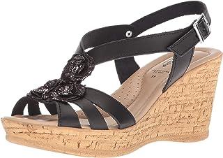 Spring Step 女士 Teomina 坡跟凉鞋