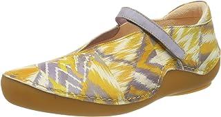思考! 女式 686069_kapl 踝带芭蕾平底鞋