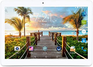 LLLCCORP 10 英寸平板电脑 Android 8.1 四核 1.3Ghz 双 SIM 卡插槽 4GB RAM 64GB ROM 内置 WiFi 蓝牙 GPS (银色)