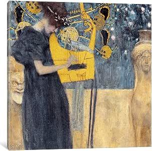 iCanvasART 14037-1PC6-12x12 Musik 1895 Canvas Print by Gustav Klimt, 1.5 x 12 x 12-Inch