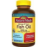 Nature Made 每日一粒鱼油软胶囊,1200毫克,含Omega-3 720毫克,100粒