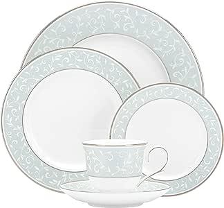 Lenox 5-Piece Opal Innocence Blue Plate Setting