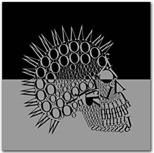 """Th-Ink Art """"Skully Y"""" Gallery Wrapped Canvas Artwork, 36 by 36-Inch"""