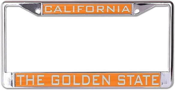 WinCraft Destination 加利福尼亚州/加利福尼亚州镶嵌金属车牌架州/加利福尼亚州镶嵌金属车牌架,多色,NA
