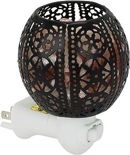 标志性喜马拉林岩盐灯夜灯带金属篮