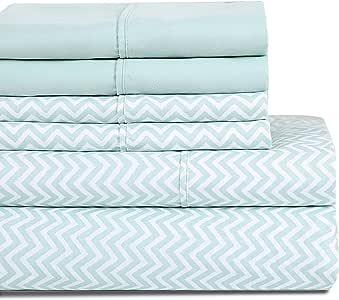 HONEYMOON HOME 时尚床单套装 双超细纤维防*豪华 Pattern#01 加州King size HM026120DPCK-01