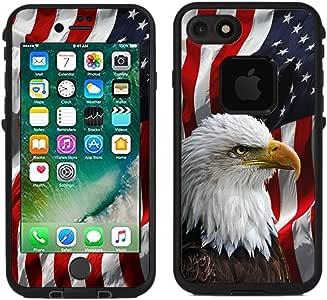 iPhone 7 / iPhone 8 救生皮肤 White - Bald Eagle American Flag
