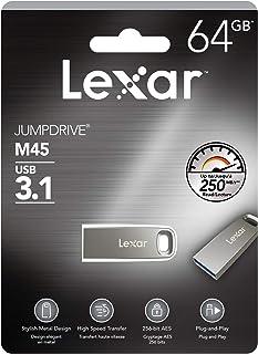 Lexar 雷克沙 Jumpdrive M45 64 GB USB 3.1 银色外壳