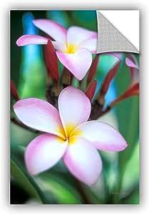 "ArtWall Kathy Yates 'Maui Plumeria' Appeelz Removable Graphic Wall Art, 12 by 18"""