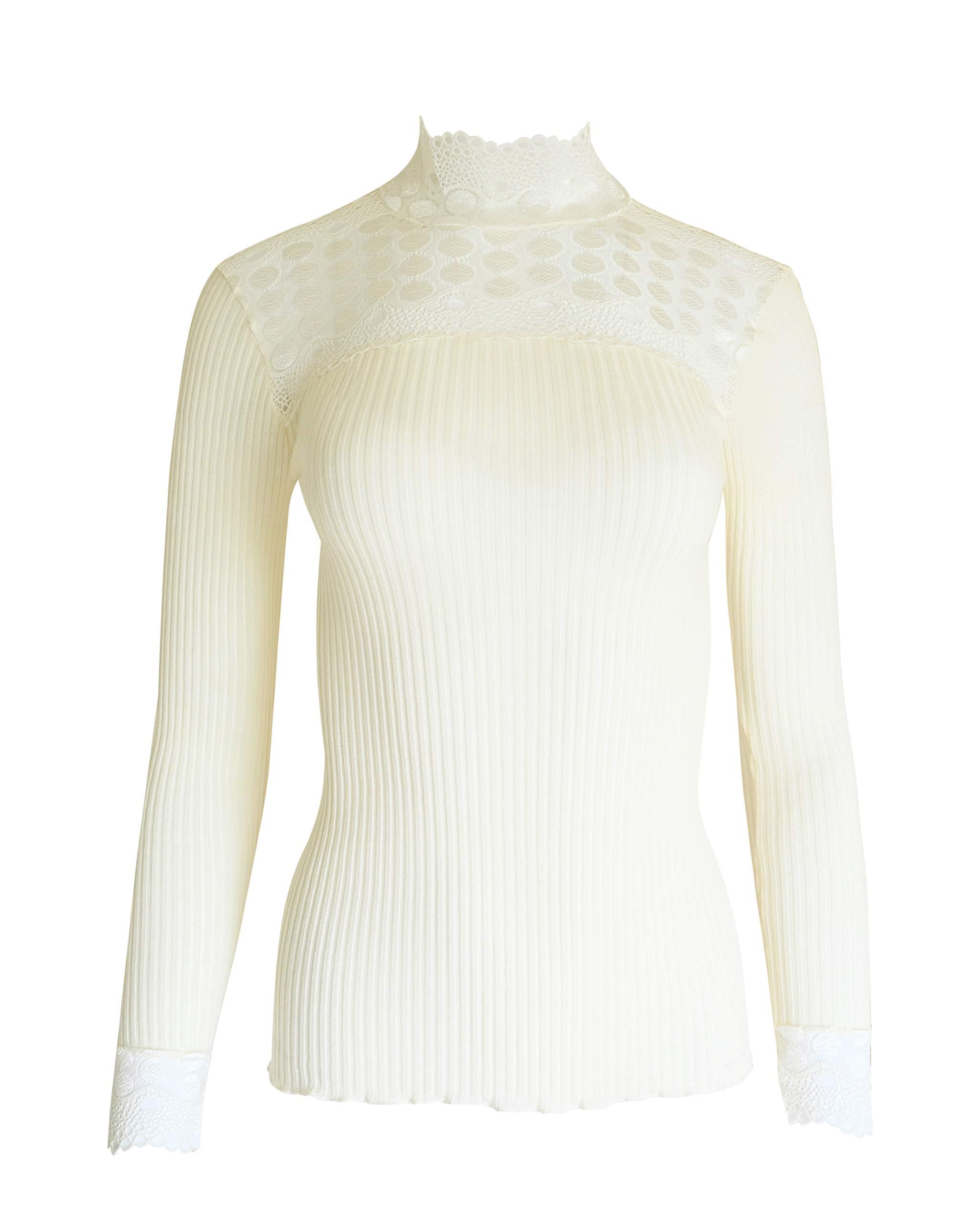 Yidartonの女性のキュートなツイストラウンドネックプルオーバー長袖シャツ暖かいニット。イタリア製。