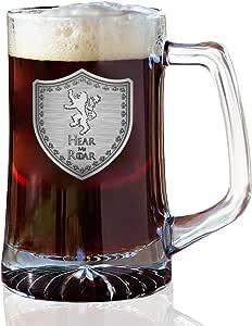 GOT Crested Shield 25盎司啤*杯 Lion 25oz Beer Mug