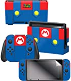 Controller Gear 任天堂切换皮肤和屏幕保护膜套装 - *马里奥 - Mario's Outfit - 任天堂开关
