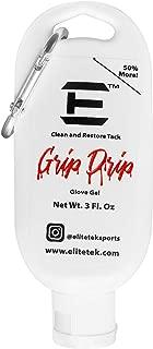EliteTek Grip 滴水 - 3 盎司 瓶子 - 复原年轻人足球手套足球装备凝胶恢复粘和抓握力