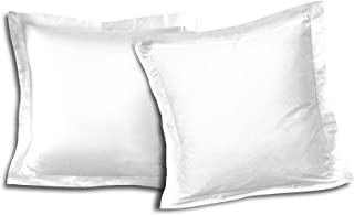 Home Passion 2 件套枕套 63 x 63 cm 57 纱线缝合布,棉,白色,63 x 63 x 0.1 cm