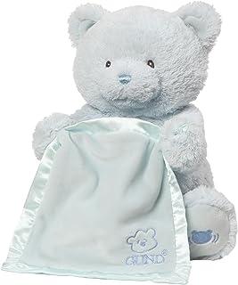 GUND 婴儿 MY First 泰迪熊躲猫猫动画婴儿填充动物玩具 蓝色