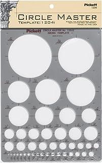 Pickett CHA1204I Master 圆形模板,直径范围为1/16到3英寸/约1.59毫米到7.62厘米(1204I)
