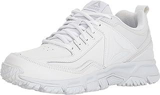Reebok 男士 Ridgerider 皮革运动鞋 白色/白色/白色 15 M US
