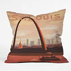 DENY Designs Anderson Design Group St Louis Throw Pillow, 18 by 18-Inch