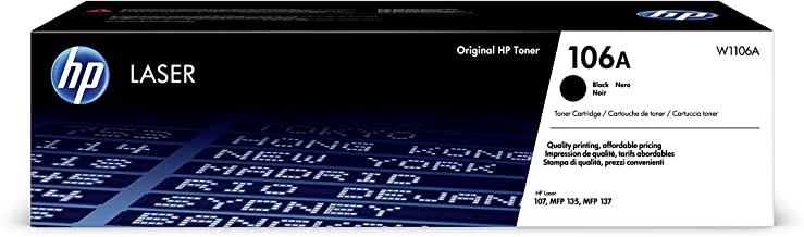 HP 惠普 106A (W1106A) 原裝墨盒 (適用于 HP LaserJet Pro) 黑色