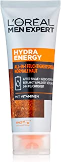 L'Oréal Men Expert 欧莱雅男士劲能醒肤保湿霜,多合一 – 面部护理和剃须后(男士24小时保湿霜), 75毫升