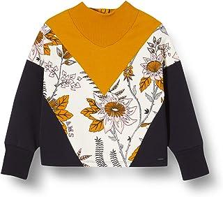 Scotch & Soda 女孩拼色汗衫带高领和印花拼接运动衫
