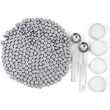 蜡密封珠,Yoption 300 片八边形密封蜡棒,带 4 个蜡烛和 2 个密封勺 银色 AGUS159
