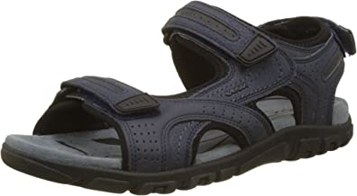 GEOX 男式 Uomo strada D 踝帶涼鞋