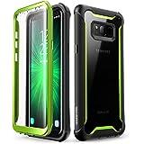 三星 Galaxy S8 手机壳,i-Blason [Ares] 全机身坚固透明保护壳带内置屏幕保护膜,适用于三星 Galaxy S8 2017 版本New 绿色