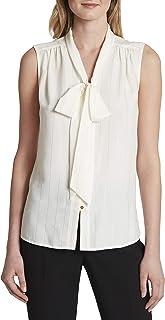 Tahari ASL 女式无袖低领衬衫
