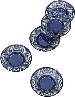 彩光舍 七宝烧 茶托 元禄 (蓝色) 5个一套 018-04