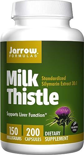 Jarrow Formulas杰诺奶蓟标准水飞蓟素提取物200粒