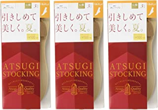 ATSUGI 厚木 连裤丝袜 ATSUGI STOCKING 紧致美观,夏天;宽松款〈3双装〉×3套 女士