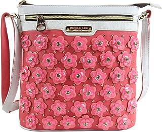 Nicole Lee Makenzie Floral Encrusted Beads Cross Body Bag
