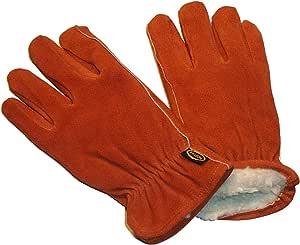 G & F 麂皮牛皮手套带绒内衬,冬季必备,3 双 X大码 6454XL-3