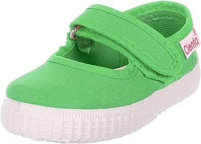 Cienta 女童 56000.08 Mary Jane 平底鞋,绿色,41 常规欧洲大童(8 美国)