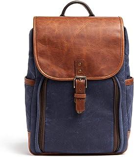 ONA - The Monterey - 相機背包 - *藍蠟帆布和古董 Cognac 皮革 (ONA5-082NVYLBR)