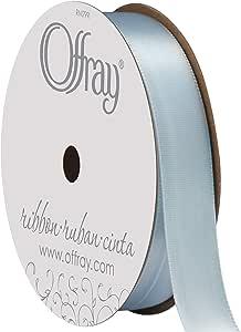 "Offray - Single Face Satin Ribbon 5/8"" Wide 18 Feet 浅蓝"