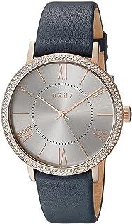 DKNY 女士指针式石英手表,皮革表带,NY2546
