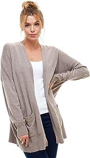 AD 女士休闲开放式针织低胸开衫毛衣上衣