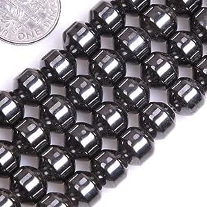 GEM-inside 3 毫米黑色圆钻宝石磁石粗糙珠子用于珠宝制作链 38.1 厘米 8mm/ 8mm- GM7984