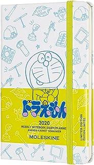 Moleskine 手账记事本 哆啦A梦 2020年 1月开始 12个月 每周日记 硬质保护套 ポケット