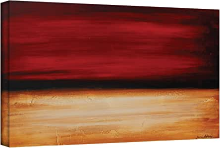 ArtWall Jolina Anthony 'Desertsunset' Gallery Wrapped Canvas Artwork, 12 by 24-Inch