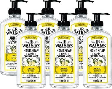 J.R. Watkins 天然液体洗手液 柠檬香 11 Ounce bottles (Pack of 6) 66