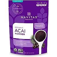 Navitas 巴西莓粉,8 盎司/227g袋装 — Non-GMO、冷冻干燥、无麸质