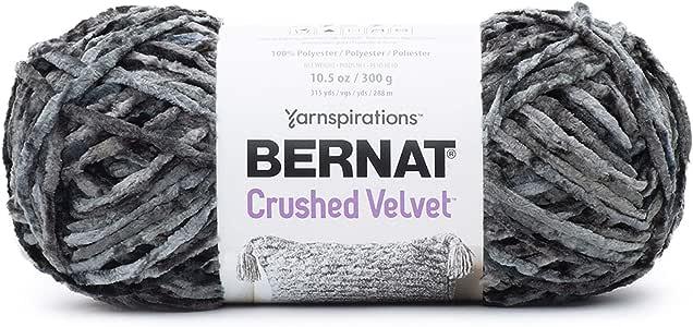 Bernat 碎天鹅绒纱线 深灰色 16101616010